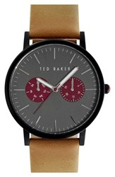 Men's Ted Baker London Leather Strap Watch 40Mm