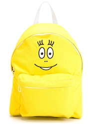 Joshua Sanders Face Embroidered Backpack Yellow And Orange