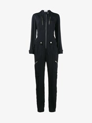 Chloe Jumpsuit With Zip Details Navy Silver