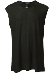 Ann Demeulemeester Loose Fit Tank Black