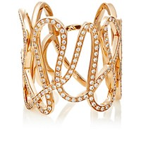Repossi Women's White Diamond And Pink Gold White Noise Ring Pink