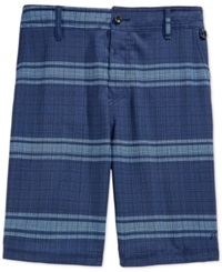 Rusty Barred Plaid Hybrid Shorts