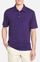 Men's Cutter And Buck 'Highland Park' Drytec Golf Polo College Purple