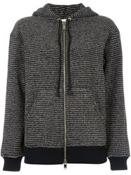 Sonia Rykiel Metallic Hooded Cardigan Black
