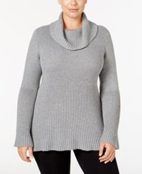 Styleandco. Style Co. Plus Size Cowl Neck Bell Sleeve Babydoll Sweater Only At Macy's Bold Grey Heather