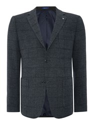 Peter Werth Gating Button Blazer Charcoal