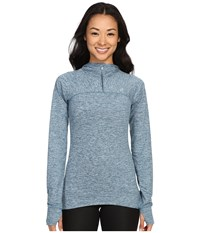 Asics Asx Half Zip Hoodie Ink Blue Women's Long Sleeve Pullover