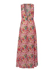 Lipsy Floral Maxi Coverup Pink
