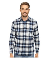 Agave Denim Japanese Soft Clouds Long Sleeve Woven Large Plaid Men's Long Sleeve Button Up Black
