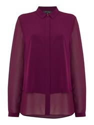 Pied A Terre Double Layered Shirt Mauve