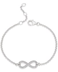 Thomas Sabo Pave Crystal Infinity Bracelet In Sterling Silver
