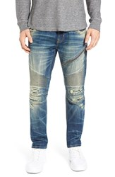 Rock Revival Men's Destroyed Skinny Fit Moto Jeans