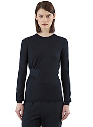 Stella Mccartney Gathered Volume Sweater Black