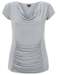 Phase Eight Stella Cap Sleeve Top Grey