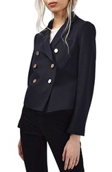 Topshop Women's Gold Button Double Breasted Blazer