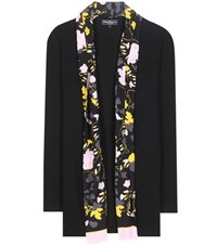 Salvatore Ferragamo Virgin Wool And Silk Cardigan Black