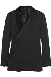 Acne Studios Cass Crinkle Cotton Blend Blazer Black