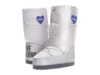 Love Moschino Ankle Moon Boot Silver Women's Boots