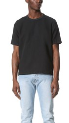 Our Legacy Cotton Linen Woven Tee Black Washed