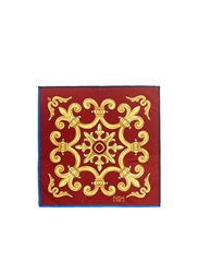 Penrose London 'Doncaster B' Medieval Tile Handkerchief Multi Colour