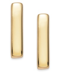 Studio Silver 18K Gold Over Sterling Silver Bar Stud Earrings