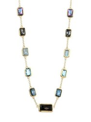 Ippolita Rock Candy London Blue Topaz Swiss Blue Topaz Turquoise Clear Quartz Amazonite And 18K Yellow Gold Multi