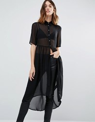 Vero Moda Tunic Shirt Dress Black