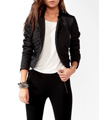 Forever 21 Quilted Puffer Moto Jacket