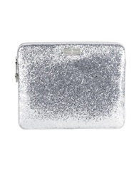 Cole Haan Minetta Tablet Zip Around Silver Glitter