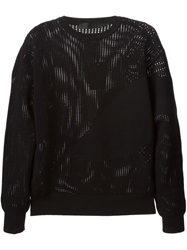 Alexander Mcqueen Open Knit Sweater Black