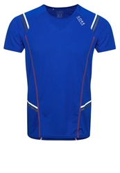 Gore Running Wear Mythos 6.0 Sports Shirt Brilliant Blue Blaze Orange