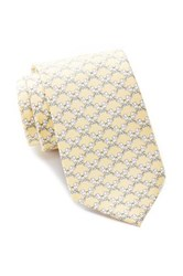 Tailorbyrd Elephant Silk Tie Yellow
