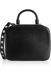 Sandro Ashley Leather Shoulder Bag Black