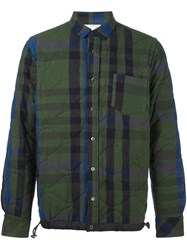 Sacai Quilted Shirt Jacket Green