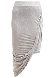 Only Onlthelma Maxi Skirt Light Grey Melange