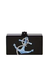 Jean Anchor Clutch Bag Obsidian Sand Obsidian Brown Edie Parker