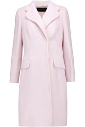 Giambattista Valli Alpaca And Wool Blend Coat Pastel Pink