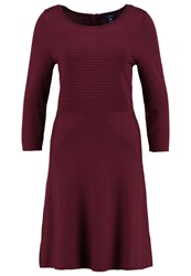 Tom Tailor Jumper Dress Tawny Port Red Dark Red