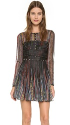 Just Cavalli Mexican Baiadera Print Dress Multicolor