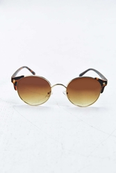 Urban Outfitters Bald Round Sunglasses Brown