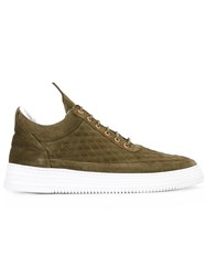 Filling Pieces Quilted Diamond Sneakers Green