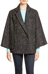 Halogen Double Breasted Cape Black White Roxie Pattern