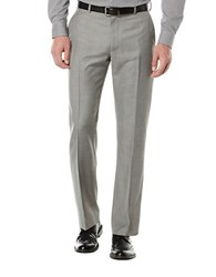 Perry Ellis Flat Front Suit Pants Nickel
