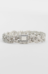 John Hardy 'Classic Chain' Small Braided Bracelet Sterling Silver