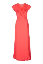 Oh My Love Tie Front Maxi Dress By Coral