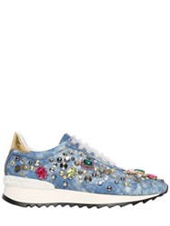 Casadei Limit.Ed Embellished Denim Sneakers