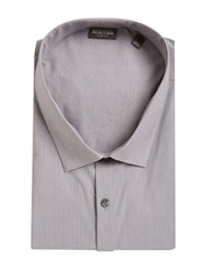 Kenneth Cole Reaction Techni Performance Slim Tall Dress Shirt Grey Frost