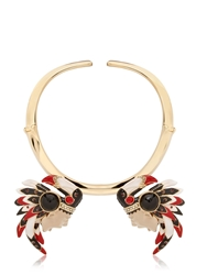 Schield Indian Necklace Gold Multi