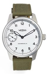 Men's Weiss Watch Company 'Standard Issue' Nylon Strap Watch 42Mm