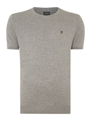 Peter Werth Spencer Plain Crew Neck Jumper Silver Marl